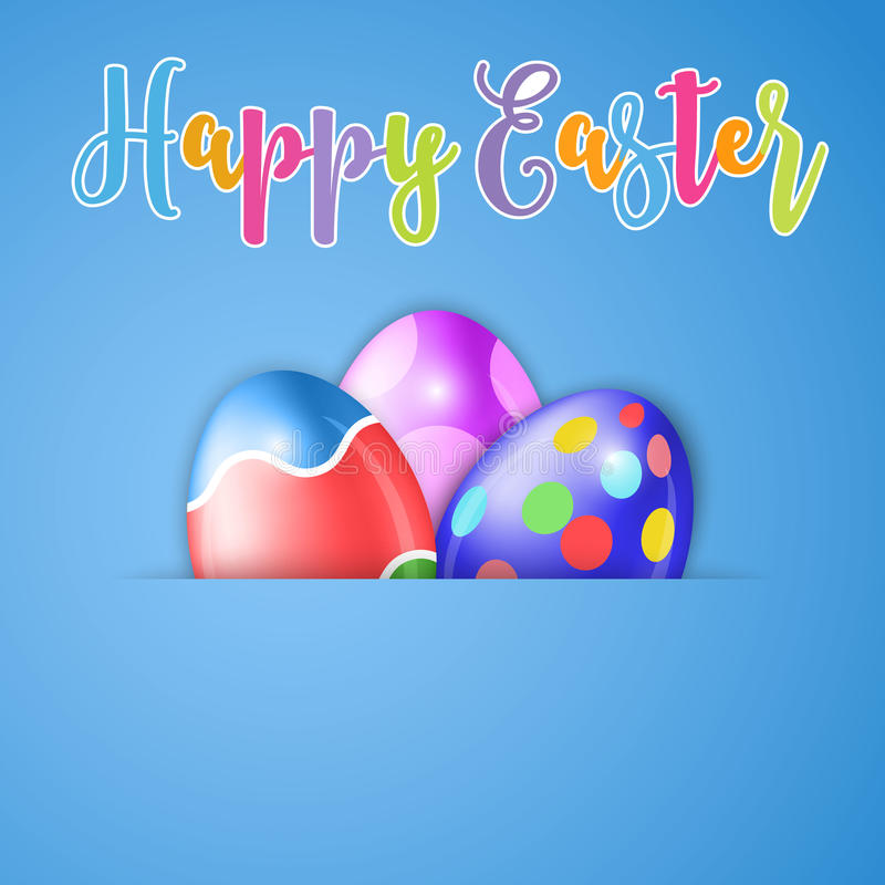 愉快的复活节卡片用鸡蛋 皇族释放例证