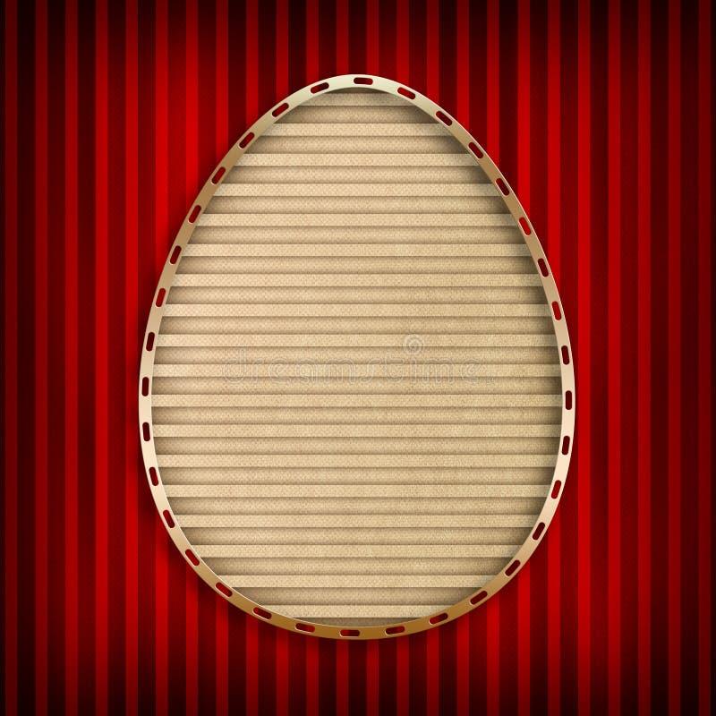 愉快的复活节卡片 库存例证