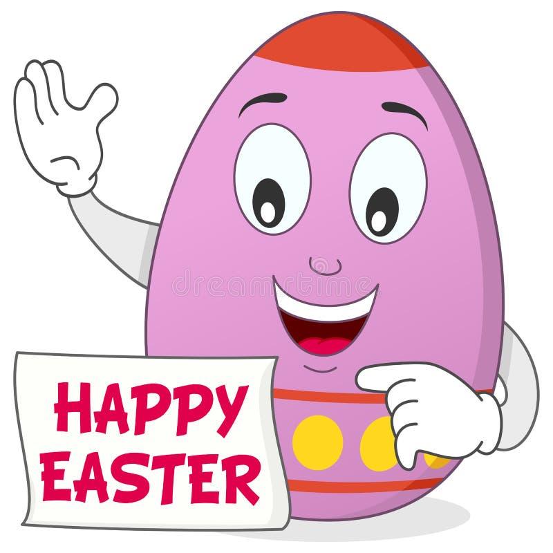 愉快的复活节彩蛋漫画人物 库存例证