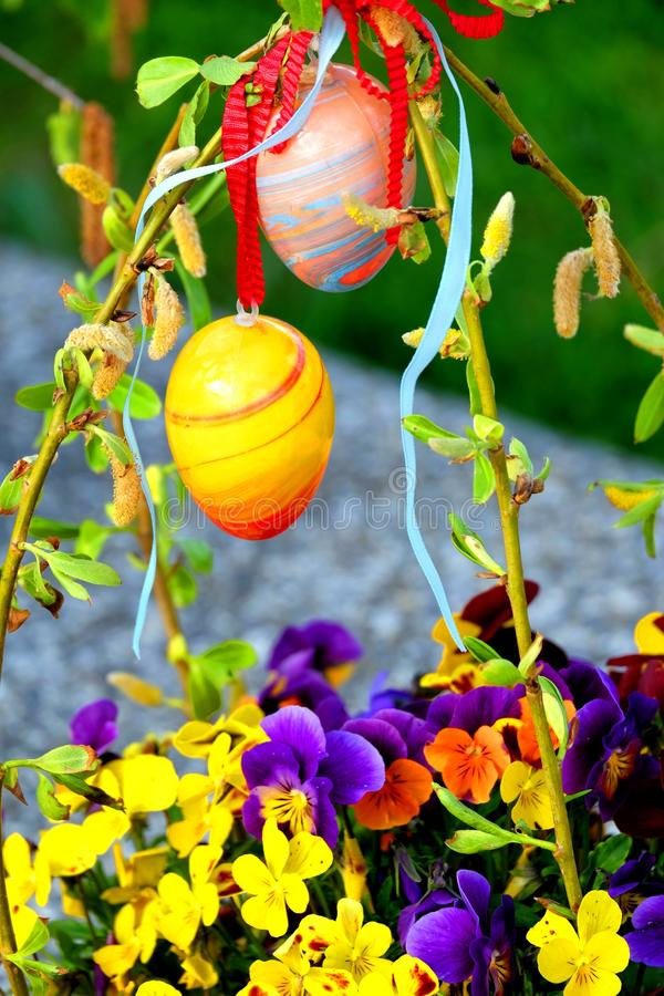 愉快的复活节彩蛋 免版税图库摄影