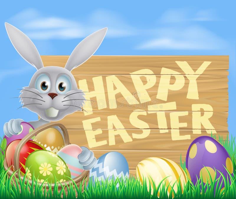 愉快的复活节标志 向量例证