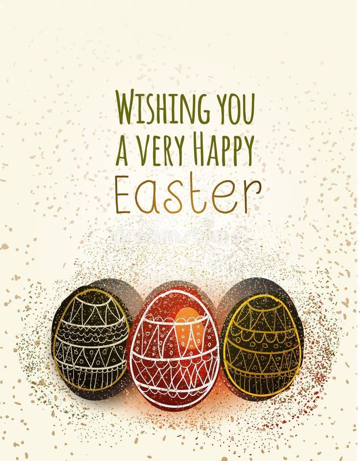 愉快的复活节贺卡用鸡蛋 向量例证