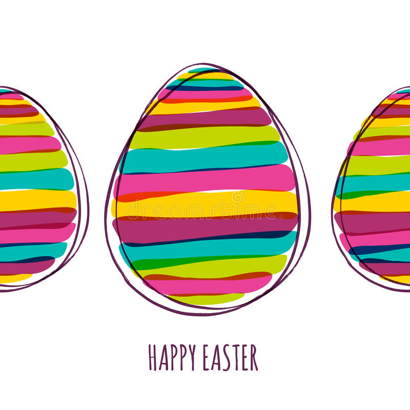 愉快的复活节贺卡 向量例证