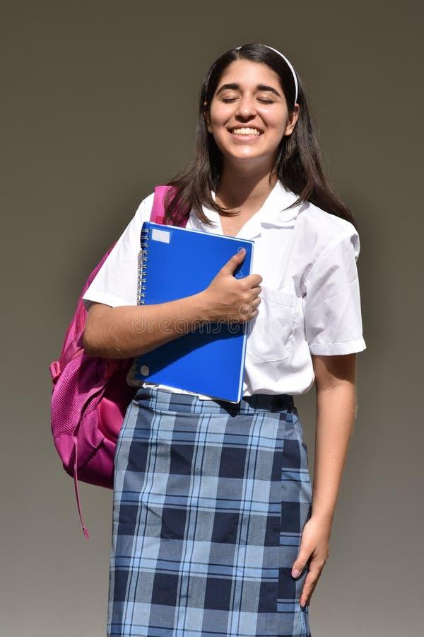 愉快的天主教学校女孩 免版税库存照片