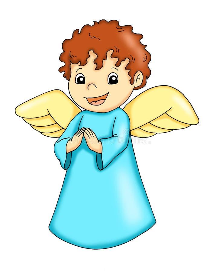 愉快的天使 皇族释放例证