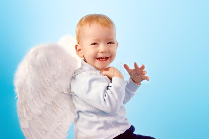 愉快的天使 免版税库存图片