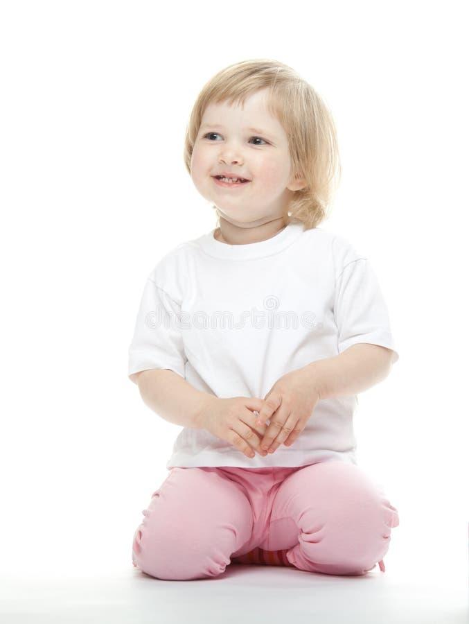 愉快的女婴 库存照片