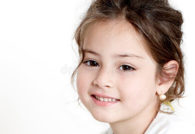 愉快的女孩一点 免版税图库摄影