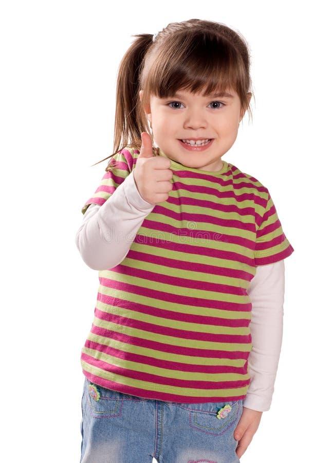 愉快的女孩一点 免版税库存照片