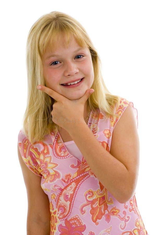愉快的女孩少许非常 免版税库存照片