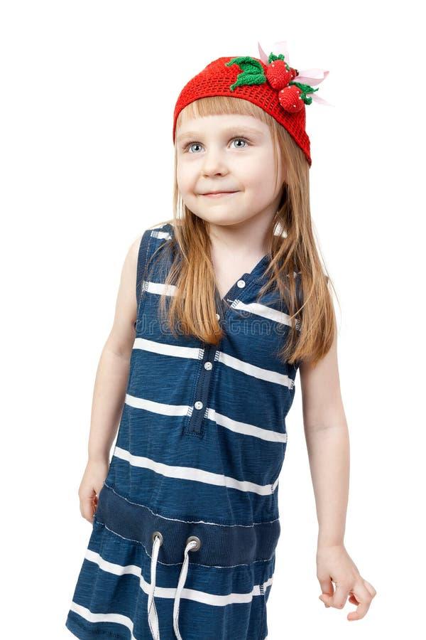 愉快的女孩微笑的一点 库存图片