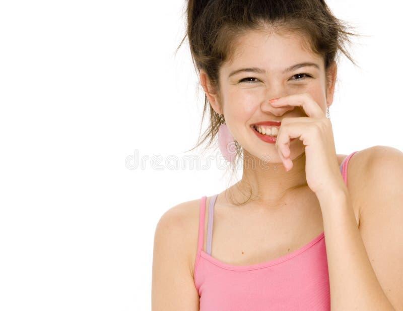 愉快的女孩 免版税库存照片