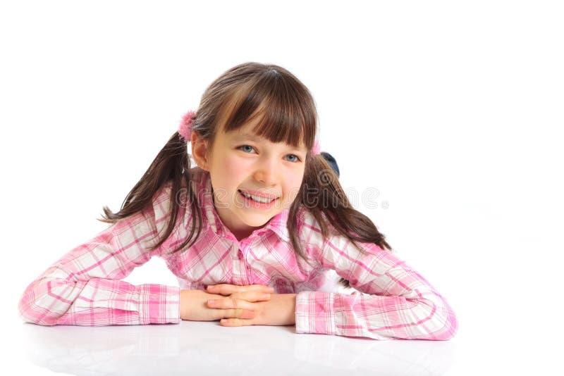 愉快的女孩 免版税图库摄影