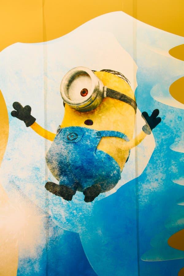 `愉快的奴才墙壁艺术`照片  免版税库存图片