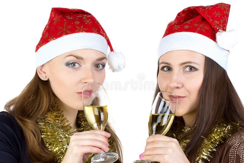 愉快的妇女照片戴眼镜的 免版税库存照片