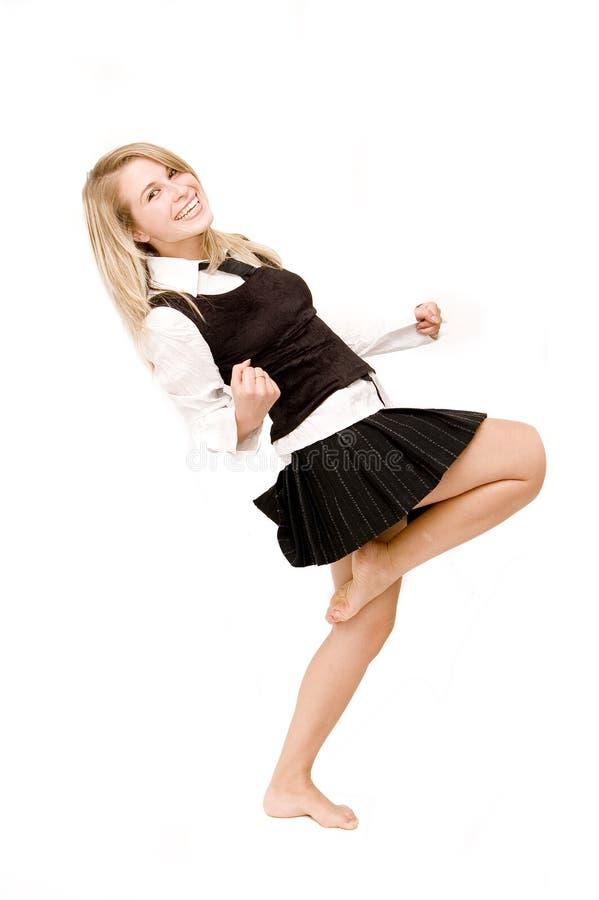 愉快的妇女 免版税库存图片