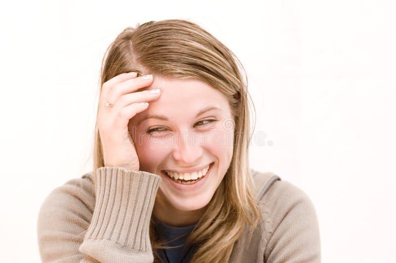 愉快的妇女 免版税库存照片