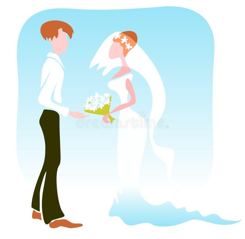 愉快的婚礼 向量例证