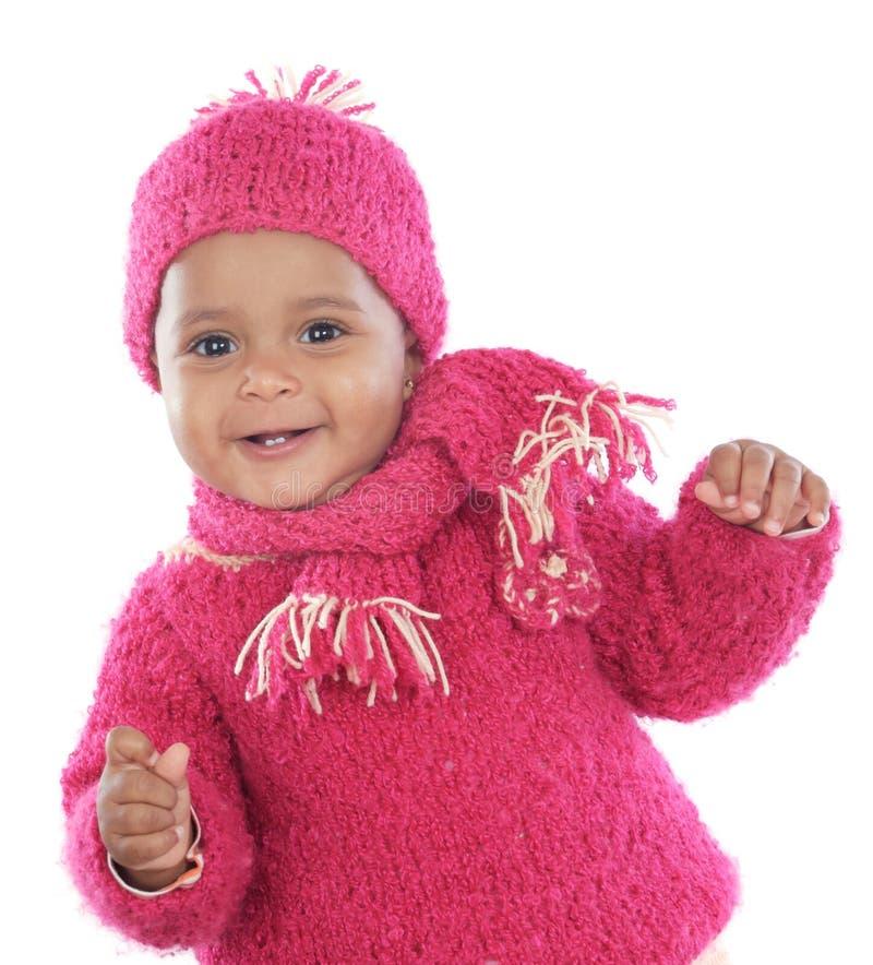 愉快的婴孩 免版税库存照片