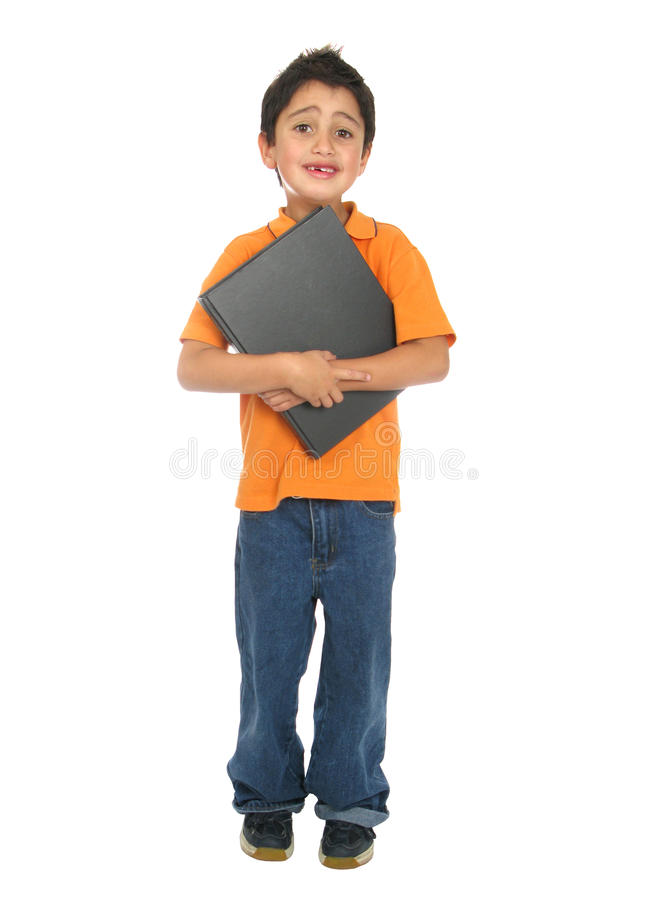 愉快的学员非常年轻人 免版税库存图片