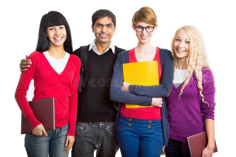 组愉快的学员 免版税库存照片