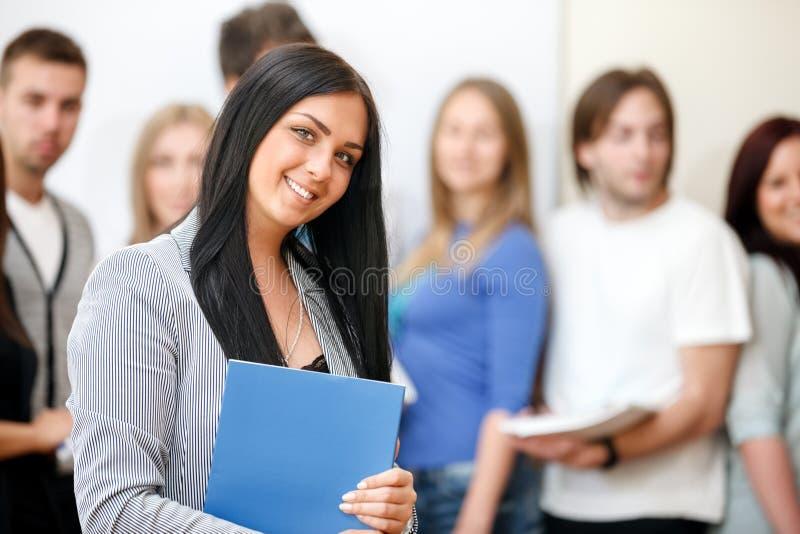 愉快的学生 免版税库存照片
