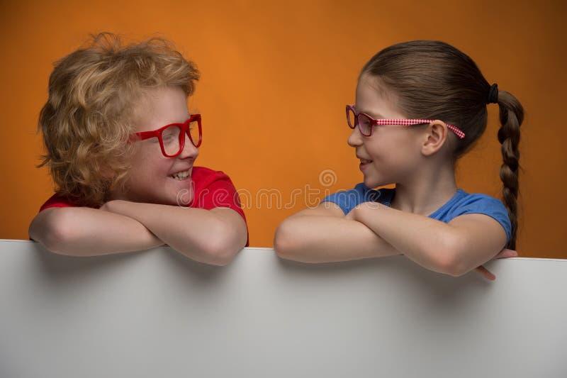 愉快的孩子。 免版税图库摄影