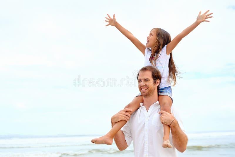 愉快的家庭 免版税库存图片