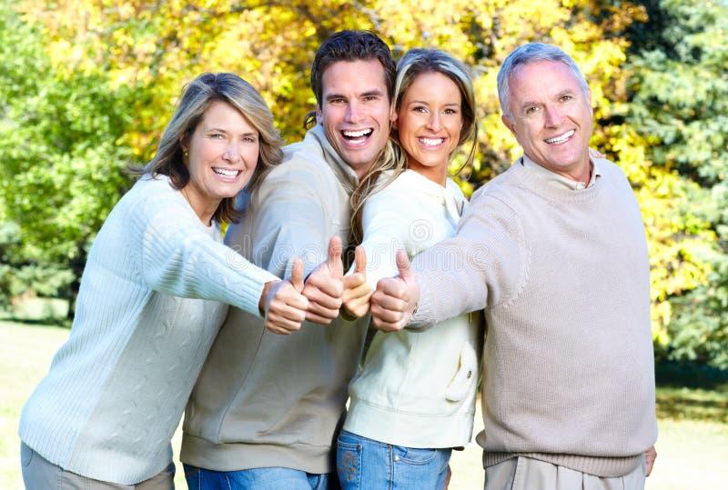 愉快的家庭 库存图片