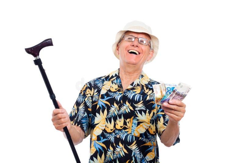 愉快的富裕的老人 免版税图库摄影