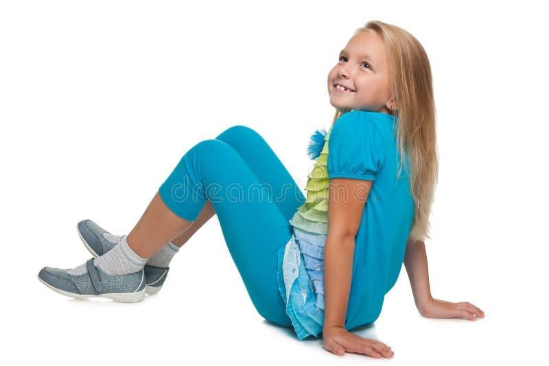 愉快的小女孩想象 免版税库存图片