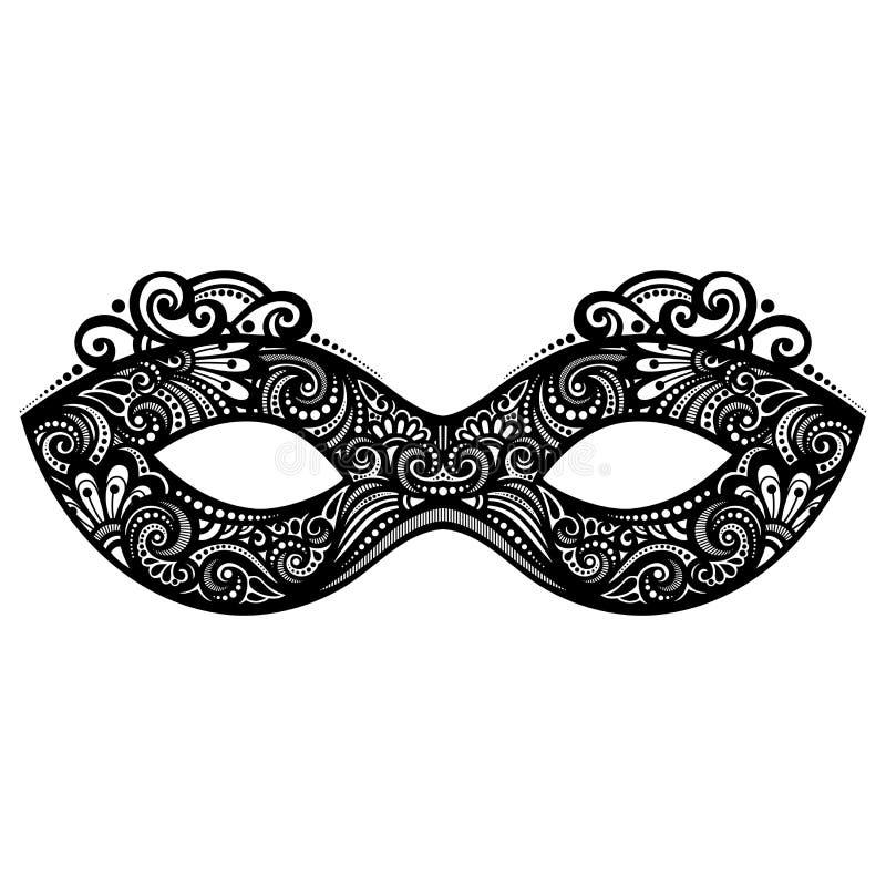 愉快的屏蔽化妆舞会新年度 皇族释放例证