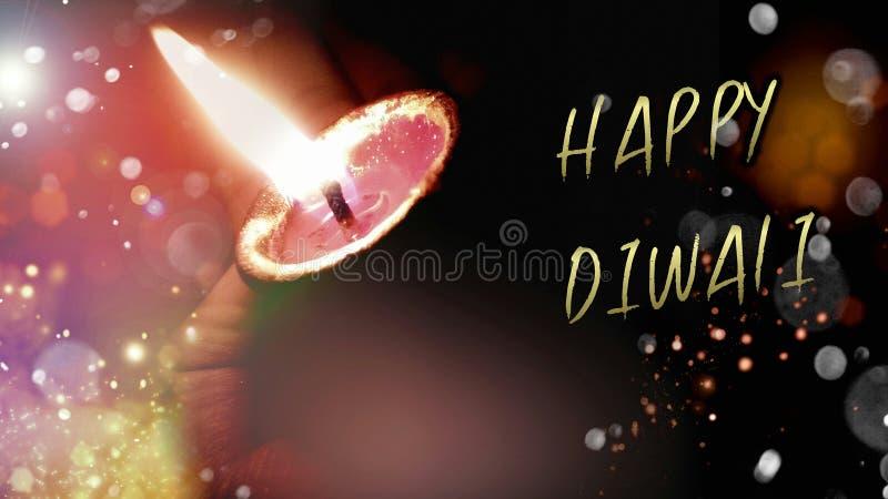 愉快的屠妖节或deepawali diyas或者灯庆祝的在印度 皇族释放例证