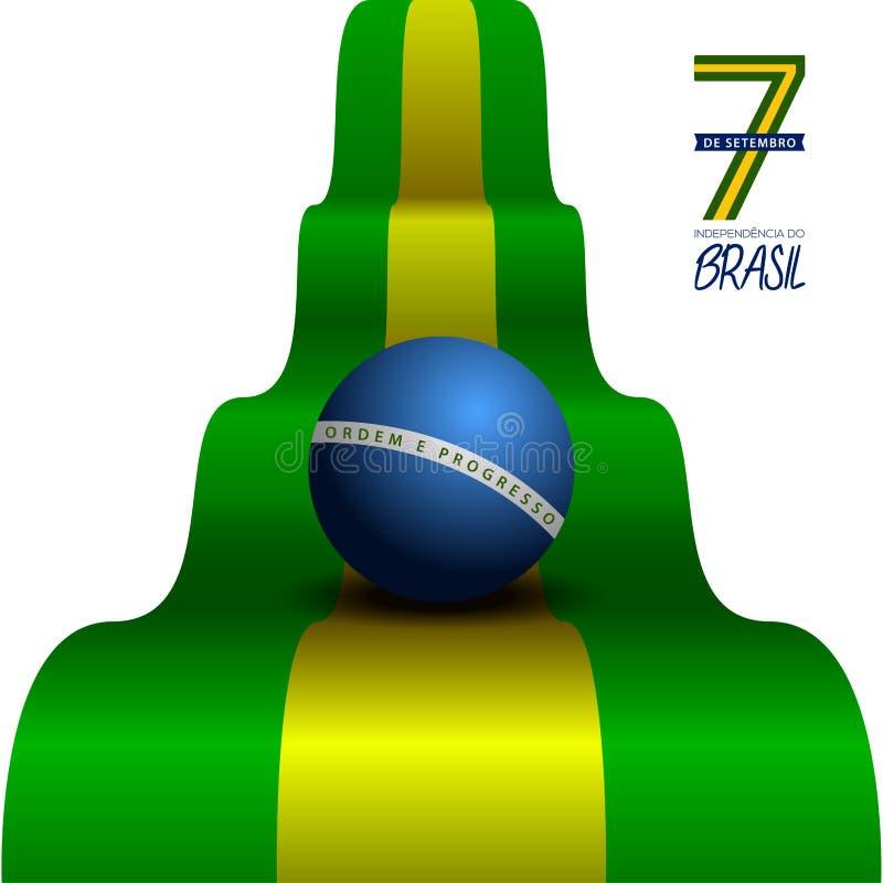 愉快的巴西独立日 库存例证