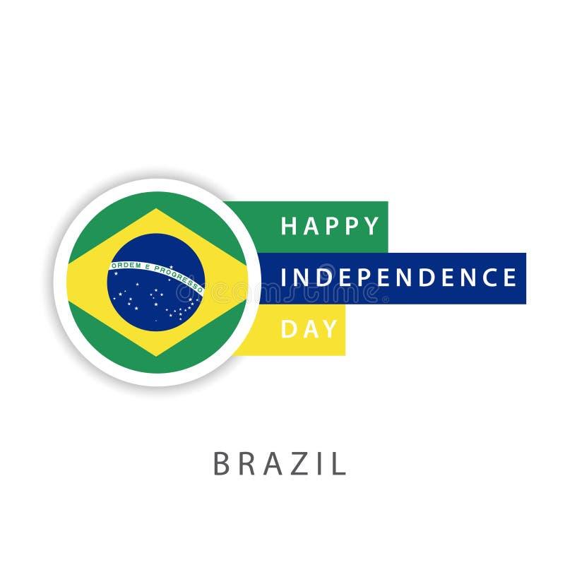 愉快的巴西美国独立日传染媒介模板设计以图例解释者 库存例证