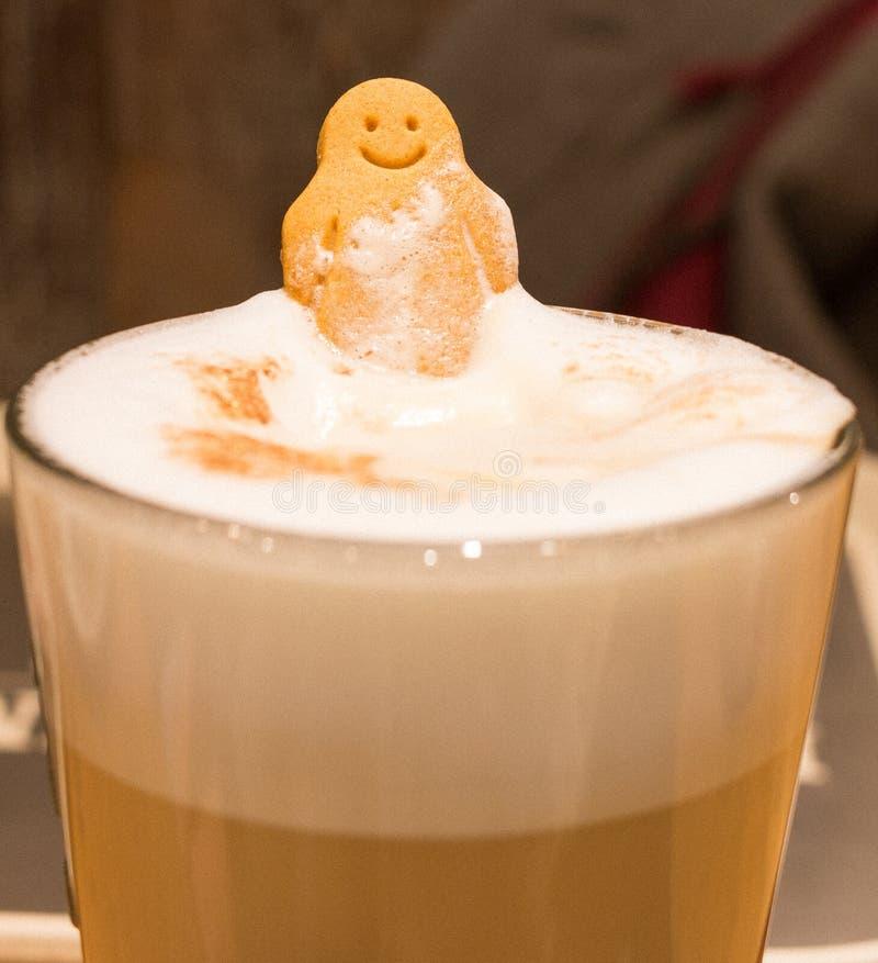 愉快的微笑咖啡 库存图片