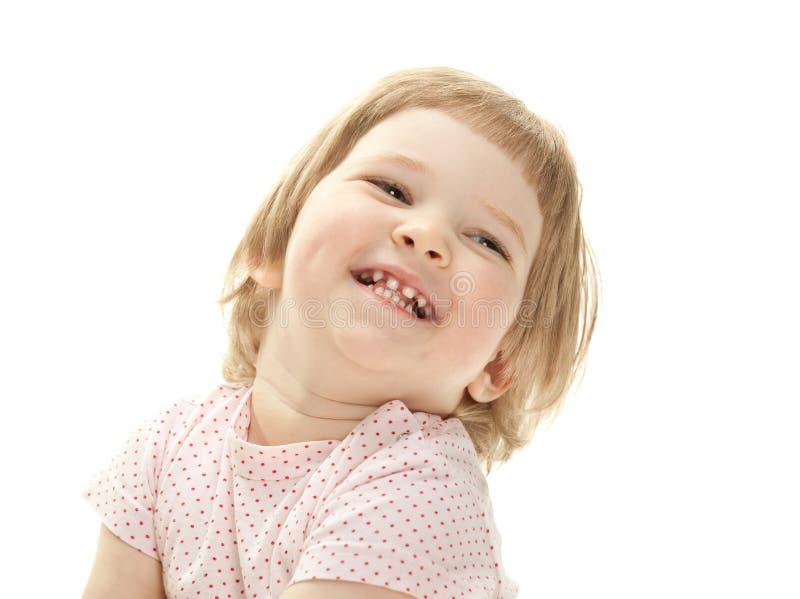 愉快的微笑的子项的纵向 免版税库存照片