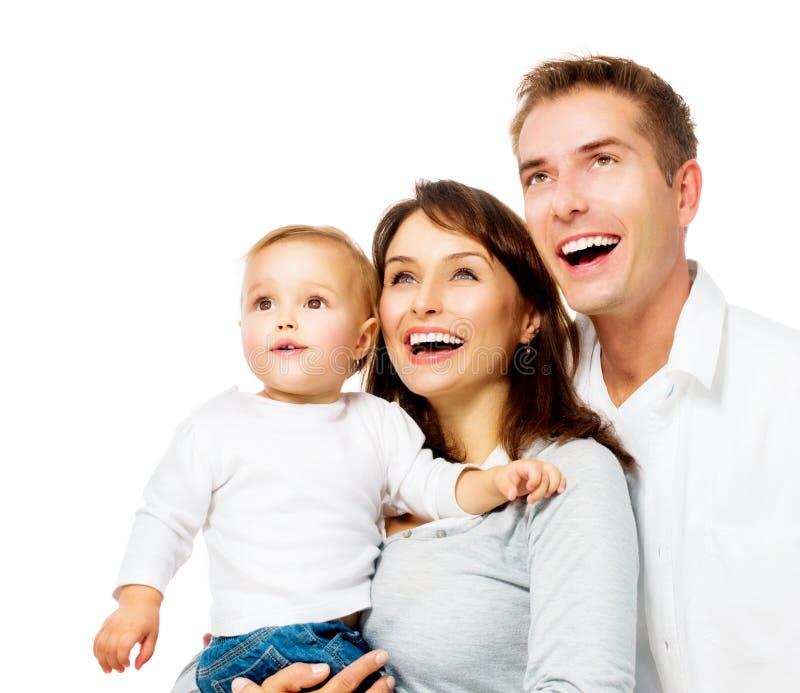 愉快的微笑的家庭画象 图库摄影