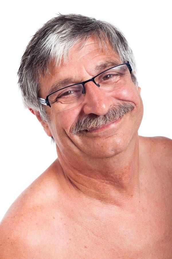 愉快的微笑的老人 免版税库存照片