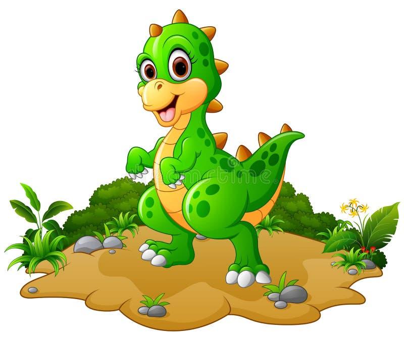 愉快的恐龙动画片 向量例证