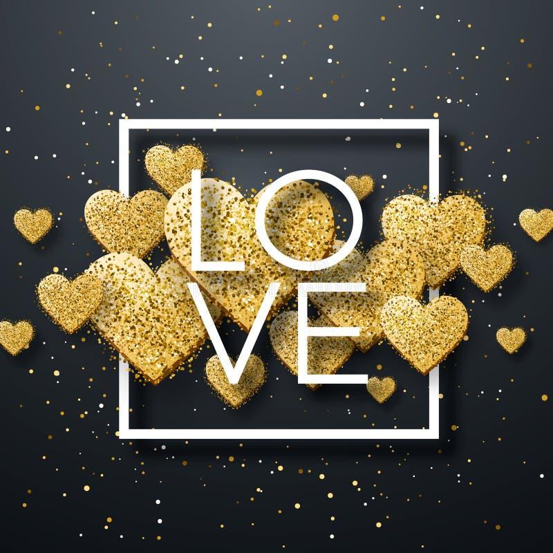 愉快的情人节和除草设计元素 也corel凹道例证向量 与装饰品,心脏的桃红色背景 乱画和卷毛 图库摄影