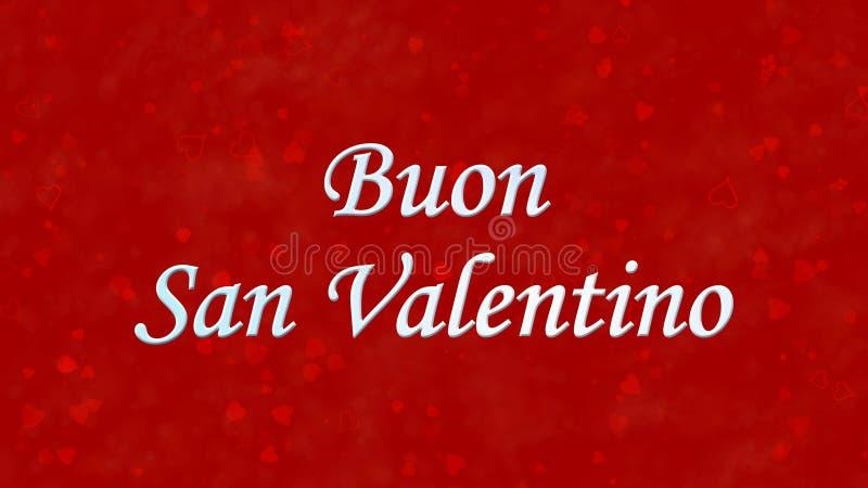 愉快的情人节文本用意大利语Buon红色背景的圣瓦伦蒂诺 皇族释放例证