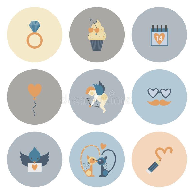 Download 愉快的情人节象 向量例证. 插画 包括有 夫妇, 例证, 看板卡, 庆祝, 图标, 要素, 放大器, 设计 - 59107227