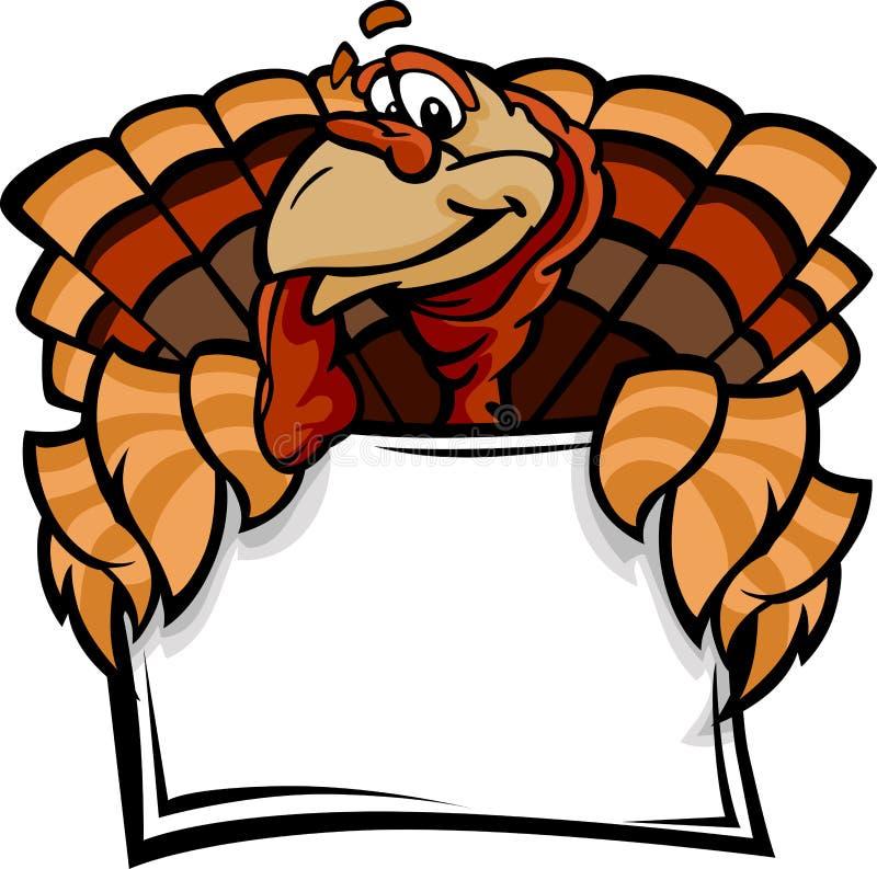 愉快的感恩节土耳其藏品符号 向量例证