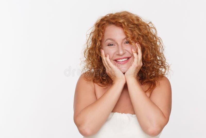 愉快的成熟妇女 免版税库存照片