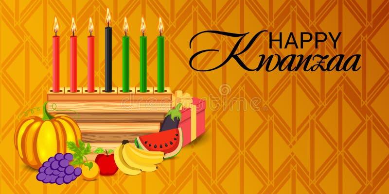 愉快的收获夸尼扎庆祝非裔美国人的假日节日  皇族释放例证