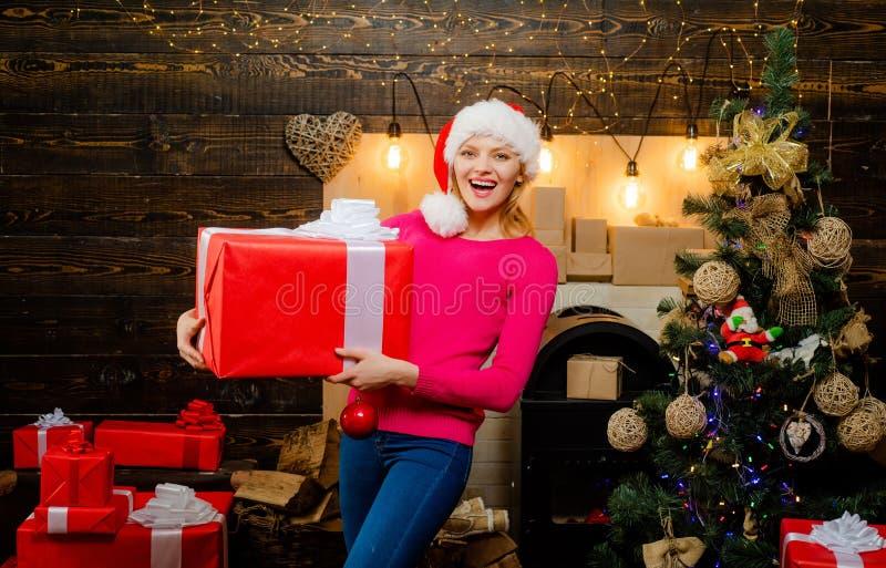 愉快的新的党 肉欲的妇女 季节性圣诞节假日销售折扣 魅力庆祝新年 ?? 免版税库存照片