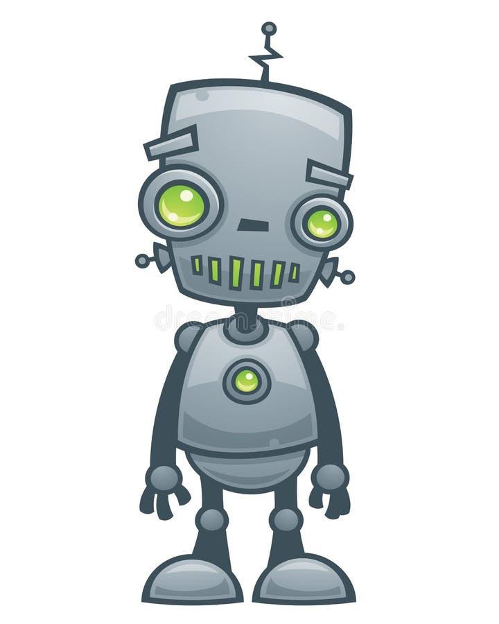 愉快的机器人 库存例证