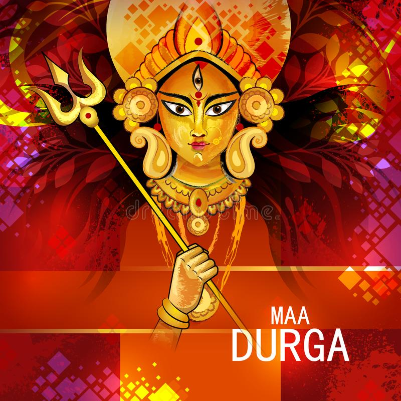 愉快的杜尔加Puja印度节日假日背景 皇族释放例证