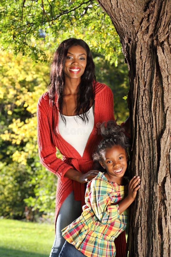 愉快的母亲和子项 库存图片